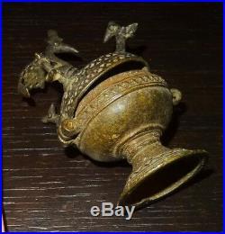 Recipient Seldjoukide Khorasan 1200 Ad Persian Anatolian Bronze Vessel Seljuk