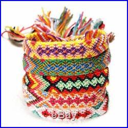 Schneespitze 5 Handmade Braided Bracelets de Chevilles Tressé Coloré Multicolo