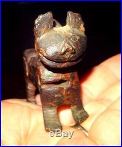 Statuette En Bronze Anatolie 1500/1000 Bc Anatolian Bronze Feline Figure