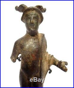 Statuette Gallo-romaine En Bronze Dieu Mercure Gallo-roman Figure God Mercury