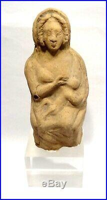 Statuette Romaine De Maternite 100 / 300 Ad- Roman Terracotta Maternity Figure
