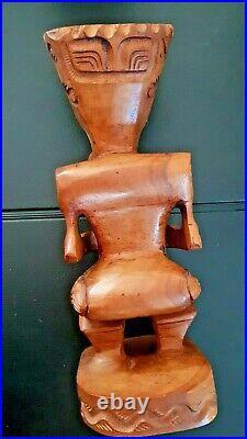 Statuette en bois TIKI provenance Tahiti (1975)