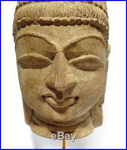 Tete De Shiva Sculptee En Gres Inde Medievale 1100 Ad Indian Sandstone Head