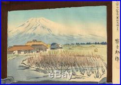 UWEstampe japonaise originale Tomikichiro Tokuriki 36 vues de Mont Fuji 52 L04