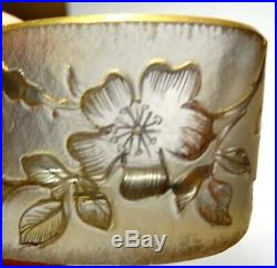 Vase En Verre Emaille Decor Floral Signe Daum Nancy Art Nouveau 1900