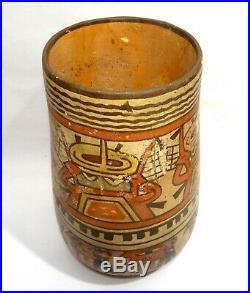 Vase Precolombien Nazca A Decor Peru 200/600 Ad Pre-columbian Nazca Kero